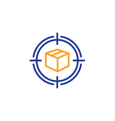 Parcel tracking line icon delivery monitoring vector