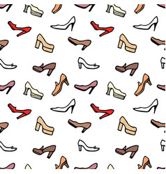 pattern of the female shoes with high heels vector image