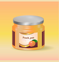 peach jam in jar vector image
