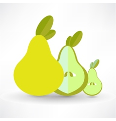Pear Icon On White Background Isolated vector image