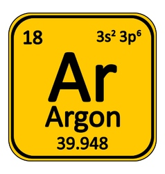 Periodic table element neon icon vector image
