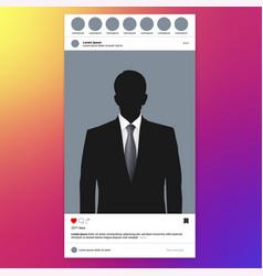 Photo frame for social networks portrait aspect vector