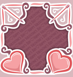 poster for happy valentines day vector image