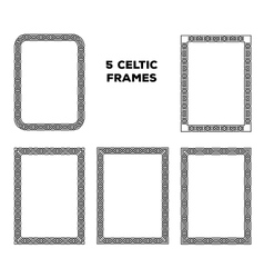 Round Celtic Frames vector