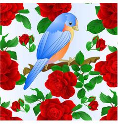 seamless texture small songbirdon bluebird vector image