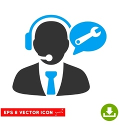 Service Manager Message Eps Icon vector image