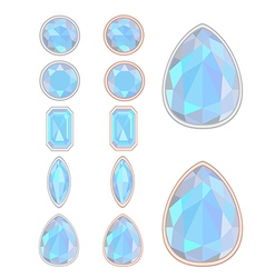 set of five forms of Moonstone vector image