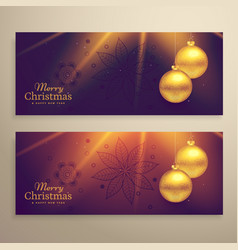 set of two beautiful christmas festival banners vector image