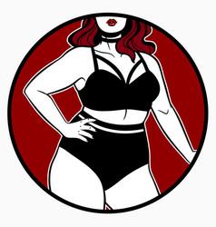 set womens underwear on a plus size model vector image