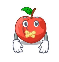 Silent fruit of nectarine isolated on mascot vector