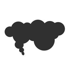 Smoke fume black cloud or steam toxic bubble shape vector