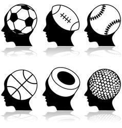 Sport heads vector image