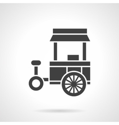 Street food trade cart glyph style icon vector image