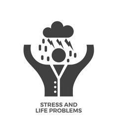 Stress and life problems glyph icon vector