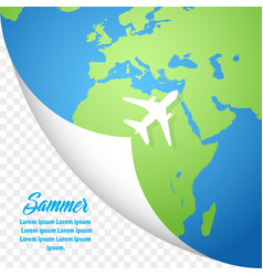 summer holiday banner stylish design on white vector image