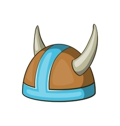 Swedish viking helmet icon cartoon style vector image