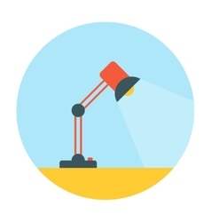 Table lamp flat icon vector