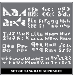 Tangram alphabet vector