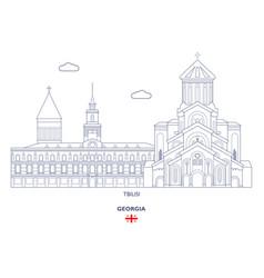 Tbilisi city skyline vector