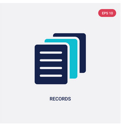 Two color records icon from health concept vector