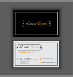 vintage luxury and clean business card template vector image