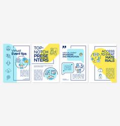 Virtual event tips brochure template vector