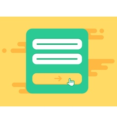 Web Template of Computer Login Form vector image