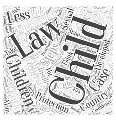 Child protection laws word cloud concept vector