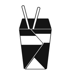 chinese fast food icon simple black style vector image