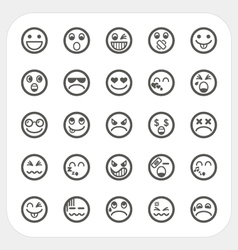 Emotion face icons set vector image vector image
