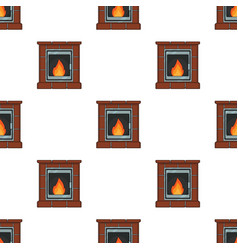 fire warmth and comfort fireplace single icon in vector image