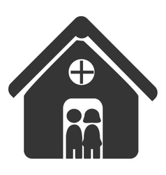Relationship and coexistence pictogram design vector image