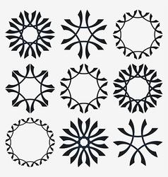 Simple set of design elements vector image