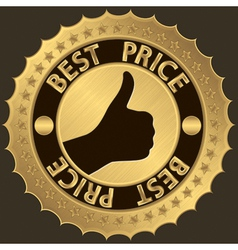 Best price golden label vector image vector image