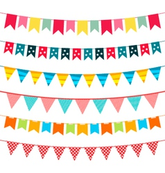 bunting set vector image vector image