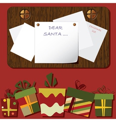 christmas background empty blank vector image
