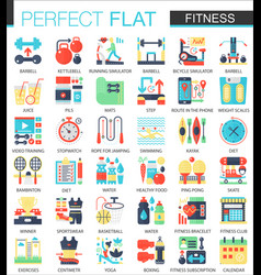 fitness and sport complex flat icon concept vector image