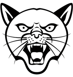 Panther head tattoo vector