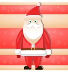 Cartoon Santa Claus smiling red christmas vector image