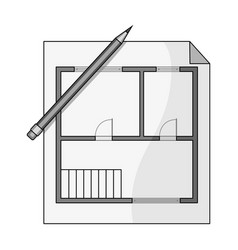 house planrealtor single icon in monochrome style vector image