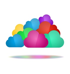 Set of color clouds - Cloud computing concept vector image