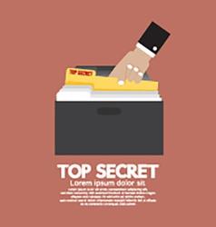 Top Secret Folder In Hand vector image vector image