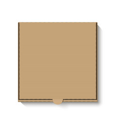 brown cardboard pizza box top view vector image vector image