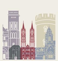 Caen skyline poster vector image vector image