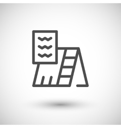 Roof insulation line icon vector