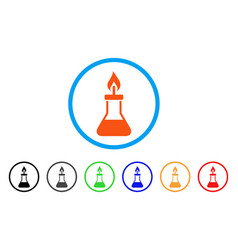 Spirit lamp fire rounded icon vector