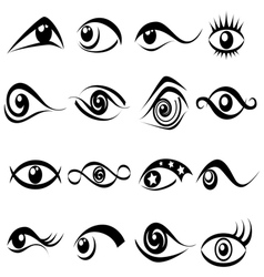 Abstract eye symbol set vector