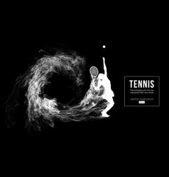 Abstract silhouette of a tennis player woman girl vector