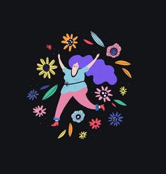 active curvy woman vector image