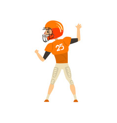 American football player wearing uniform back vector